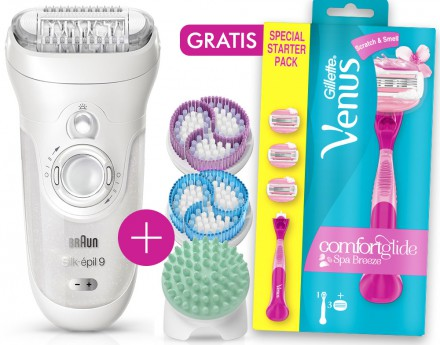Braun Silk-épil 9-969v + gratis Gillette for Women Venus Comfortglide Breeze Spa Einsteigerpack