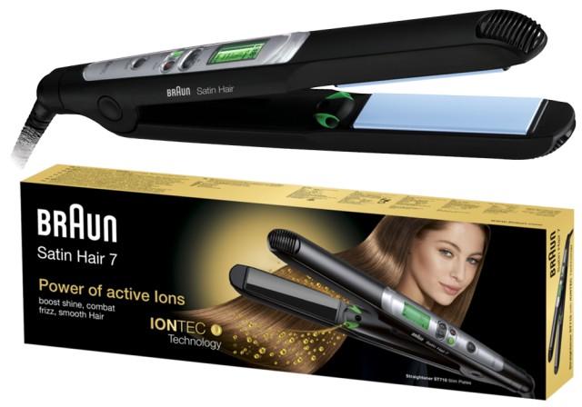 Glatteisen Braun Haarglätter Satin Hair 7 Straightener ST710 ES2